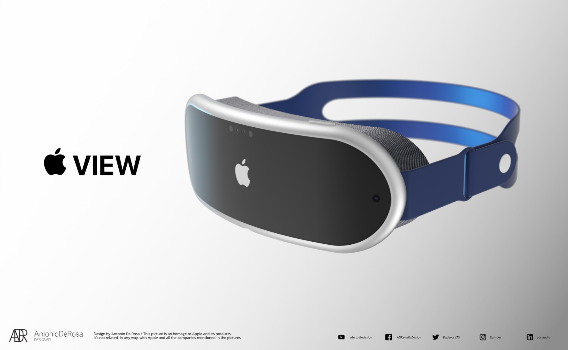 Designer shows how Apple's mixed reality headset could look based on leaked design